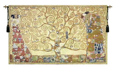 Tree of Life with Figures Wall Tapestry - Tapestry Zest