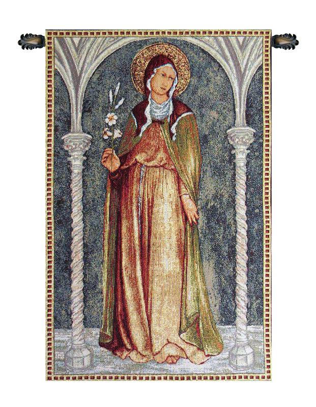 Saint Clare in Arch - Tapestry Zest