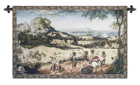Collecting Hay Italian Wall Tapestry - Tapestry Zest