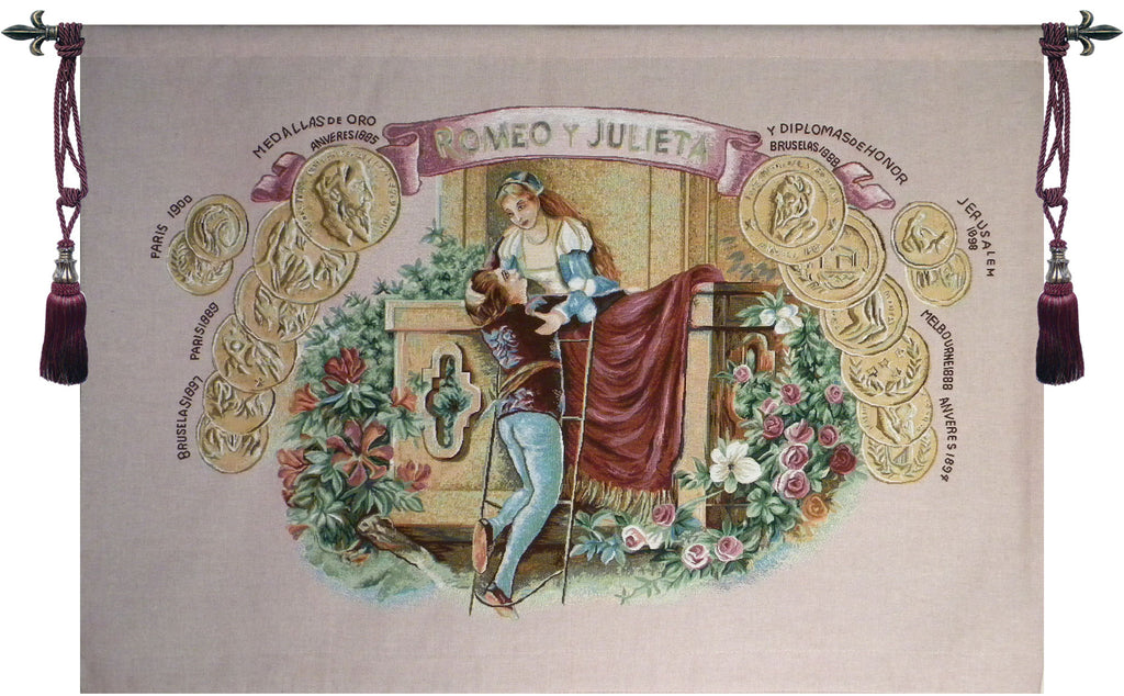 Romeo and Juliet Travels Tapestry Wall Art - Tapestry Zest