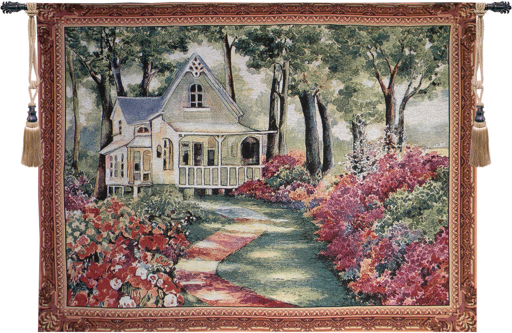 Garden Path to Home Tapestry Wall Art - Tapestry Zest