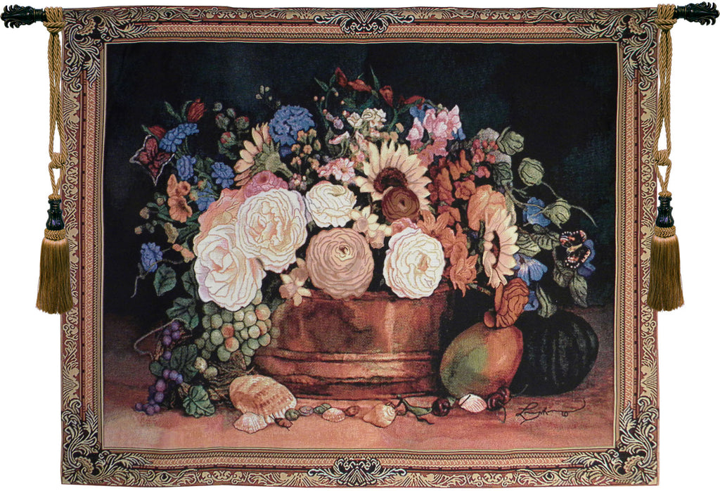 Summer Bouquet Still Life Tapestry Wall Art - Tapestry Zest