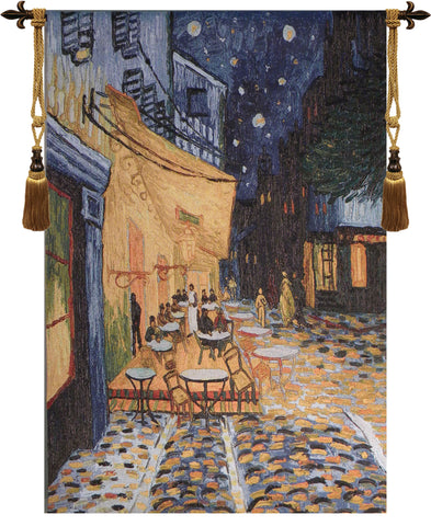 Cafe Terrace at Night Van Gogh Tapestry Wall Art - Tapestry Zest