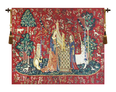 Lady and the Organ, Unicorn Series, Wall Tapestry - Tapestry Zest