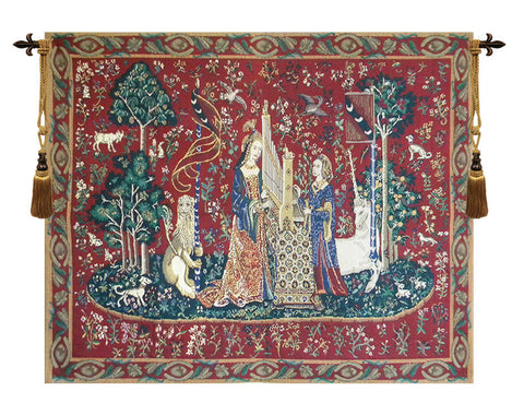 The Lady and the Organ with Border Tapestry - Tapestry Zest