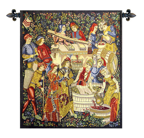 Vendanges Left Side Red Tapestry - Tapestry Zest