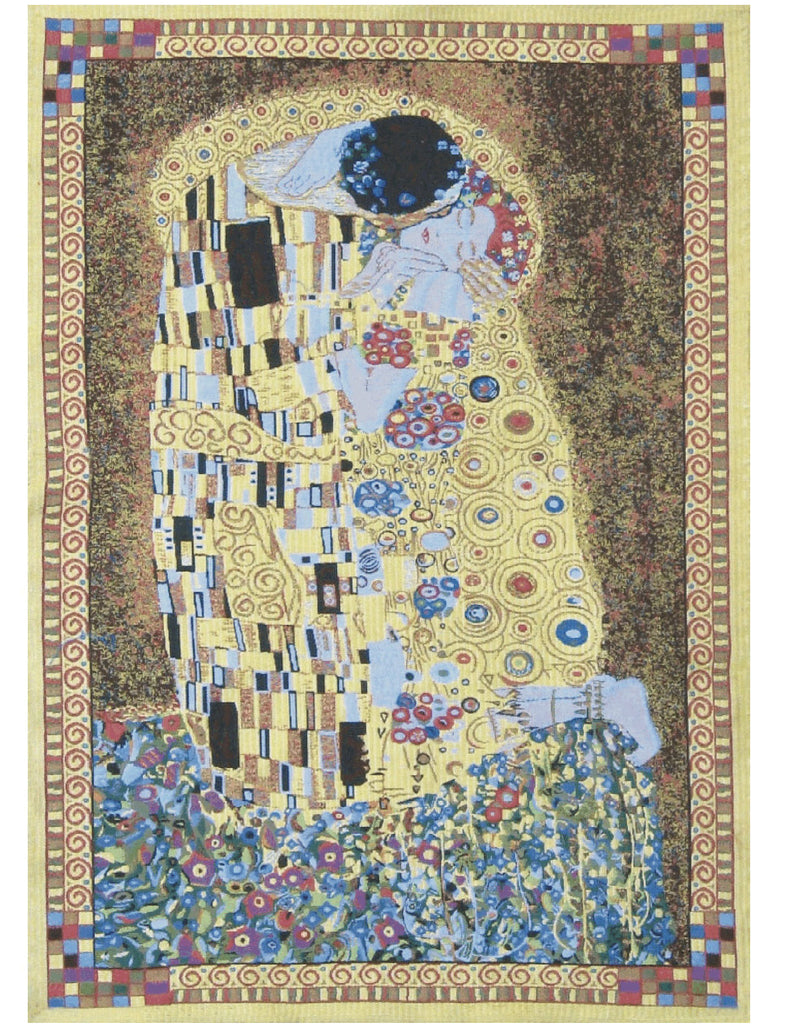 The Kiss (Yellow) Tapestry - Tapestry Zest