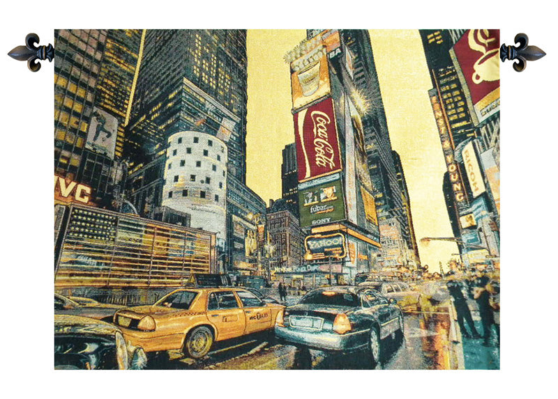 Times Square New York Italian Wall Tapestry - Tapestry Zest