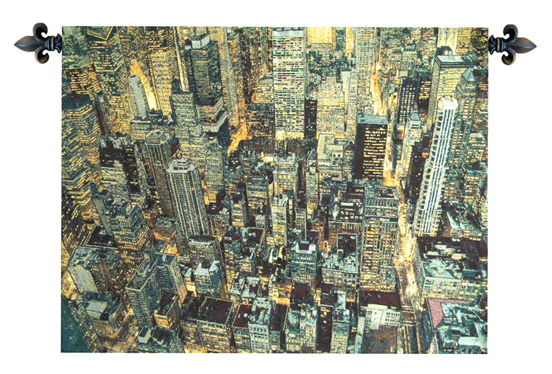 A New York Night Italian Wall Tapestry - Tapestry Zest