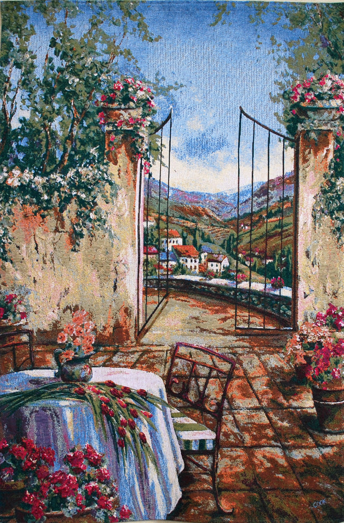 Table for Two European Wall Tapestry - Tapestry Zest