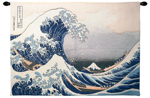 The Great Wave of Kanagawa French Tapestry - Tapestry Zest