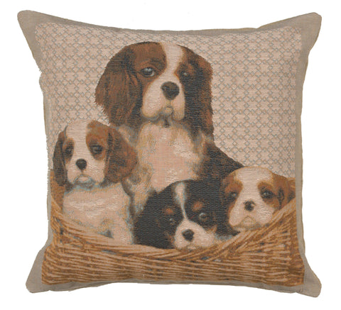 Cavalier King Charles Family French Cushion Cover
