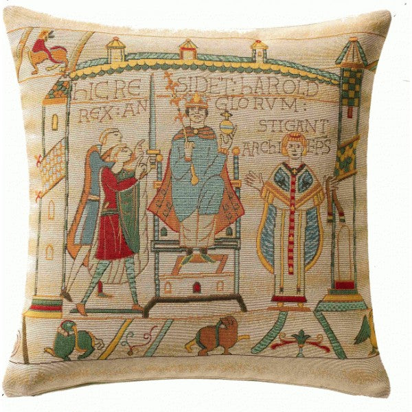 "Bayeux Cathedral French Cushion, 14""x14, Medium"