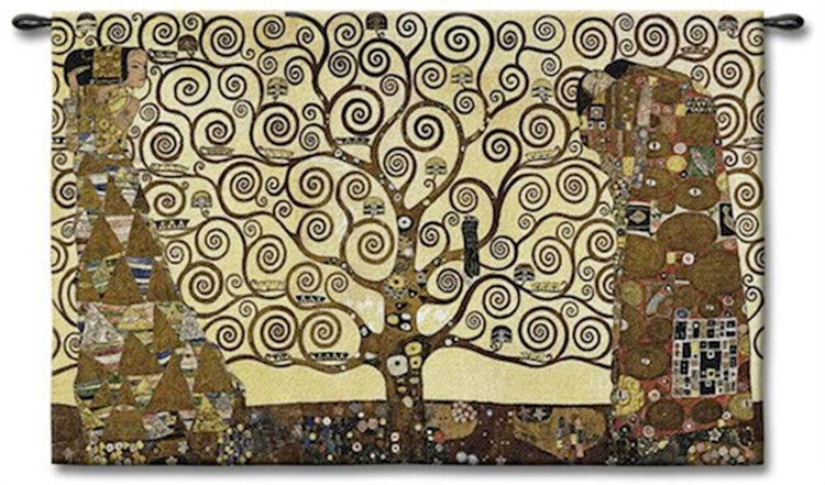 Klimt\'s Tree of Life Art Tapestry Wall Hanging – Tapestry Zest