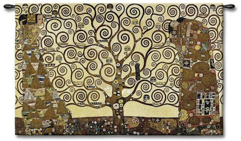 Klimt's Tree of Life Wall Tapestry - Tapestry Zest