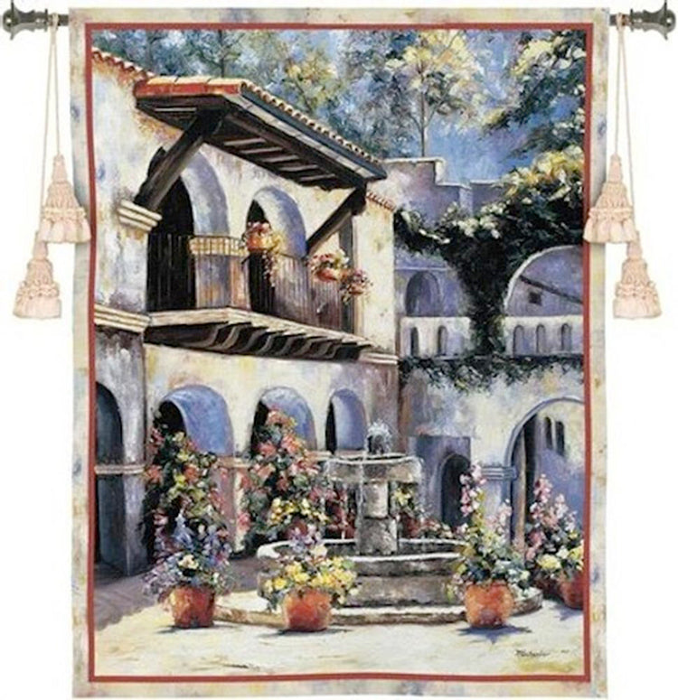 Spanish Estate Tapestry Wall Art - Tapestry Zest