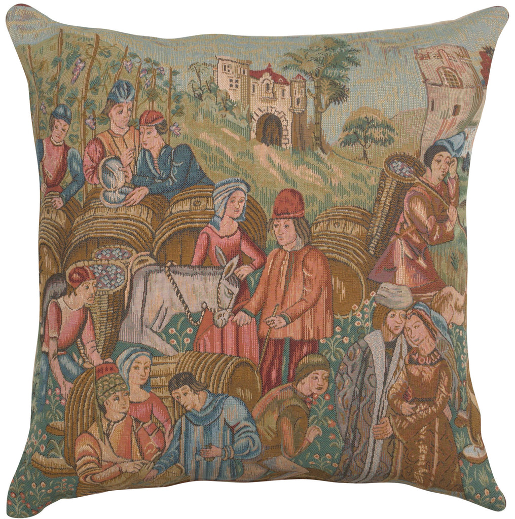 Wine Making 2 French Cushion Cover