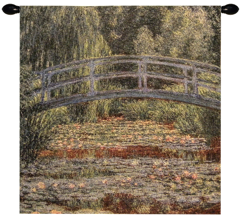 Giverny Bridge Tapestry Wall Art - Tapestry Zest