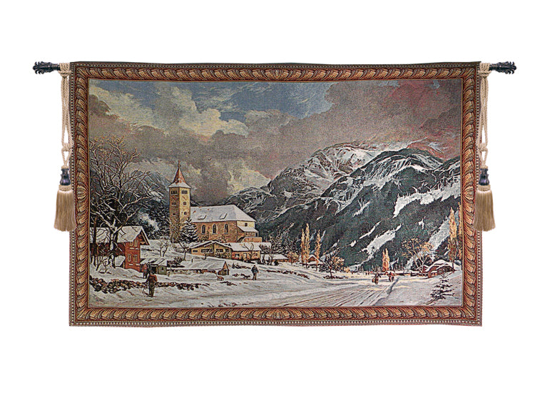 Alpine Village Tapestry Wall Art - Tapestry Zest