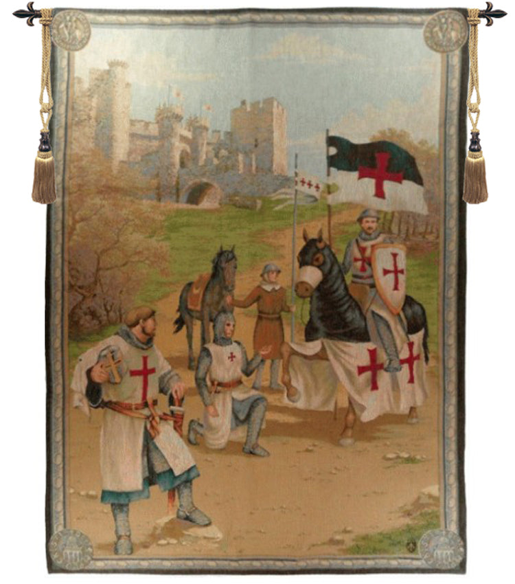 Knight's Templars French Tapestry - Tapestry Zest