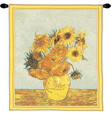 Sunflowers by Van Gogh European Wall Tapestry - Tapestry Zest