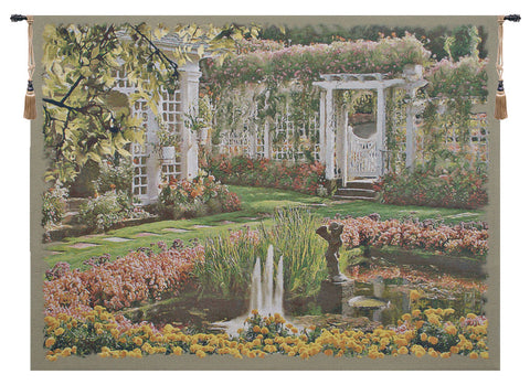 "Jardin Top Belgian Tapestry Wall Art, 42""x56"""