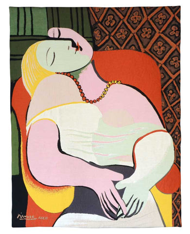 Picasso Le Reve 1932 French Wall Tapestry - Tapestry Zest