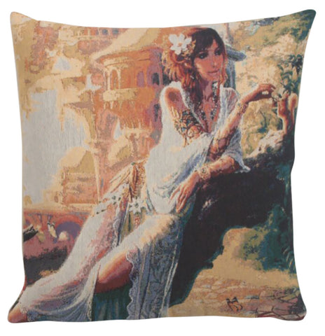 Flowers in Her Hair Decorative Pillow Cushion Cover