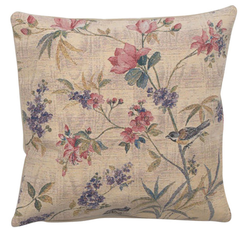 Delicate Flowers Decorative Pillow Cushion Cover