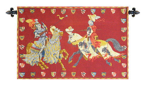 "Medieval List European Wall Tapestry, 17""x26"""
