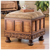 Medieval Strong Box Ottoman - Tapestry Zest