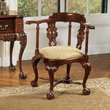 Chippendale Corner Chair - Tapestry Zest