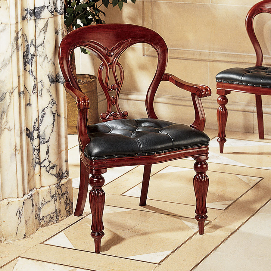 Simsbury Manor Leather Arm Chair - Tapestry Zest