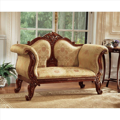 Abbotsford House Victorian Sofa - Tapestry Zest