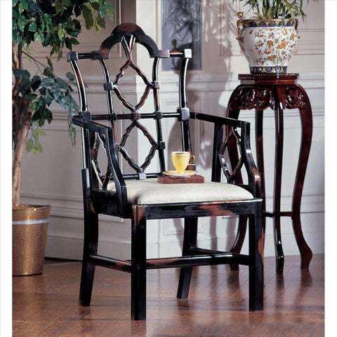 Chinese Chippendale Chair - Tapestry Zest