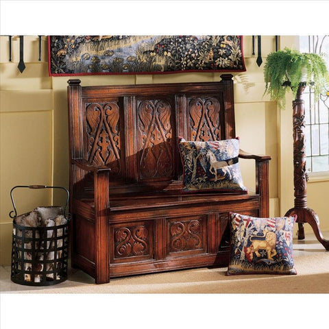 Monks Bench - Tapestry Zest
