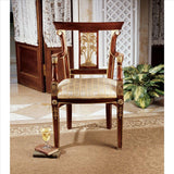 Colonial Plantation Arm Chair - Tapestry Zest