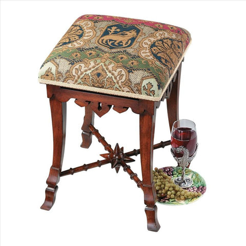 The Medieval Mace Stool - Tapestry Zest