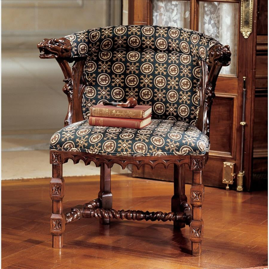 Kingsman Manor Dragon Chair - Tapestry Zest