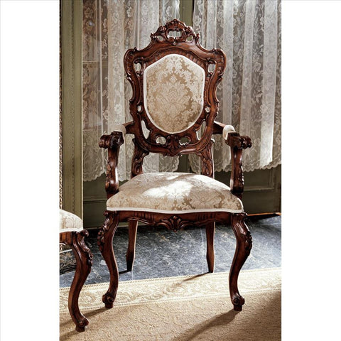 French Rococo Arm Chair - Tapestry Zest