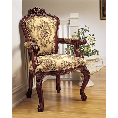 Carved Rocaille Chair - Tapestry Zest