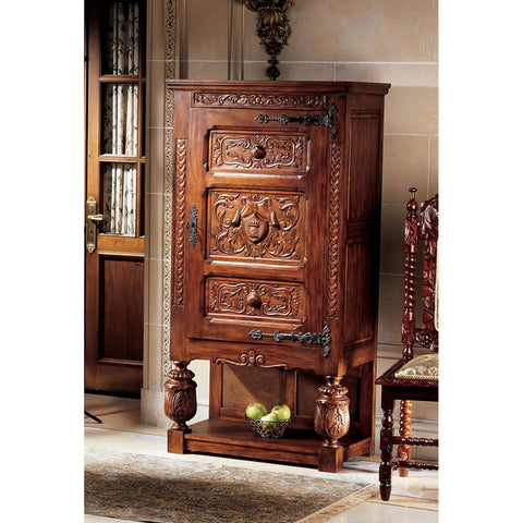 Coat Of Arms Gothic Revival Armoire - Tapestry Zest