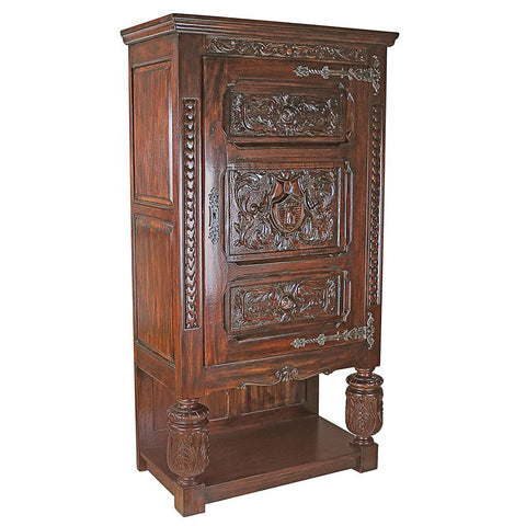 Coat of Arms Gothic Revival Armoire