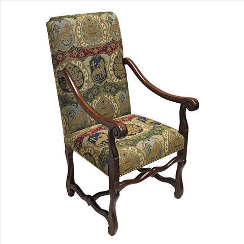 Chateau Dumonde Arm Chair W/ Charles - Tapestry Zest