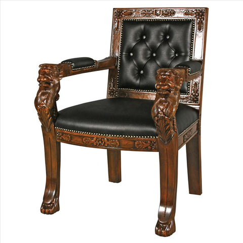 Beardsley Faux Leather Lion Chair - Tapestry Zest