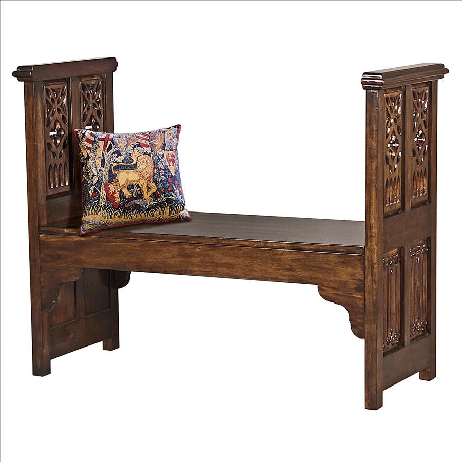 Gothic Filigree Bench - Tapestry Zest