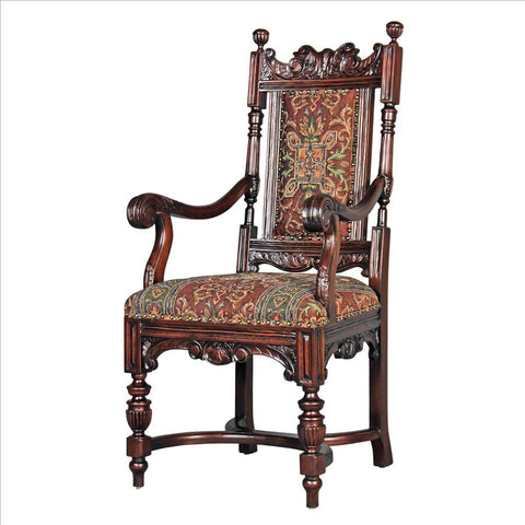Grand Classic Edwardian Armchair - Tapestry Zest