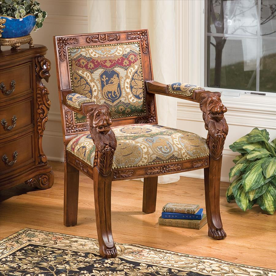Beardsley Lion Armchair - Charles Fabric - Tapestry Zest