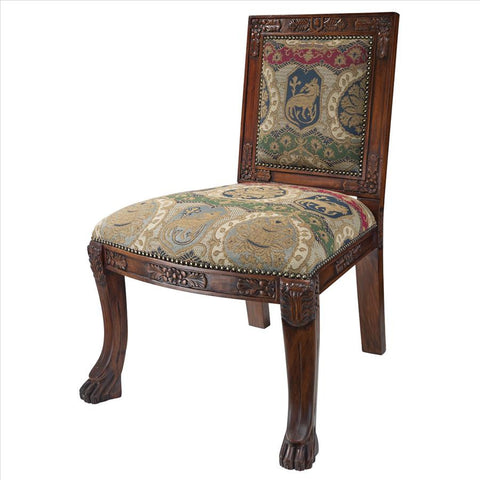 Beardsley Lion Side Chair - Charles Fabr - Tapestry Zest