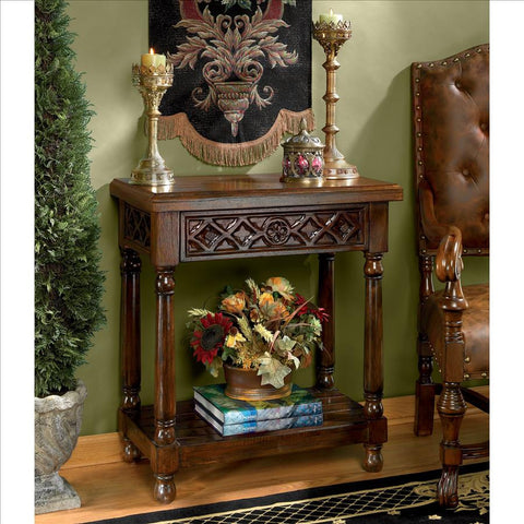 Calcot Manor Medieval Console Table - Tapestry Zest